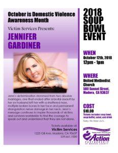 2018 Soup Bowl Event - Raising awareness of Domestic Violence - October is Domestic Violence Awareness Month