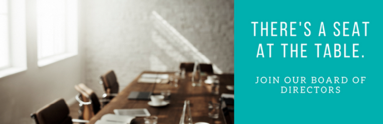There's a Seat at the Table - Join our Board of Directors - Home page banner for CAPMC Board of Directors Recruitment