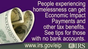 Economic Payment for Homeless Flyer